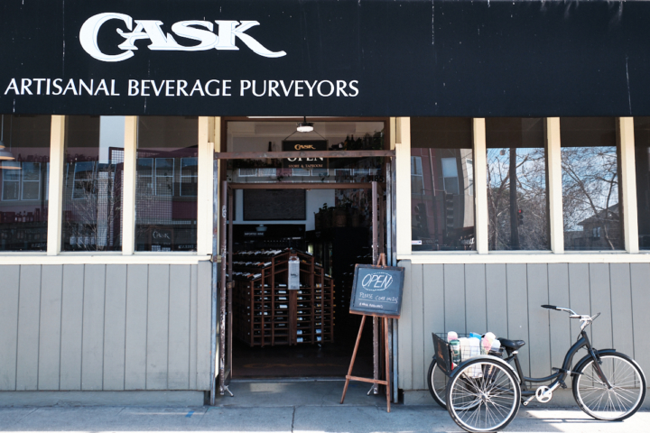 Cask on College, which sells premium alcohol products, saw an increase in sales in 2020. Photo: Pete Rosos