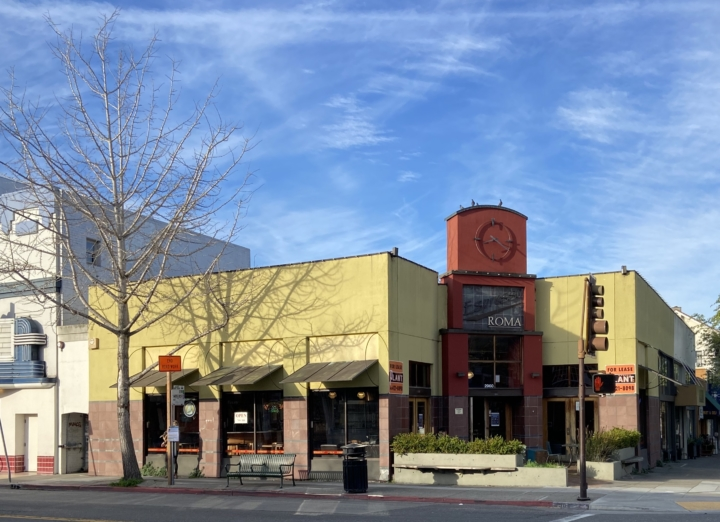 Espresso Roma on College Avenue is open, but for lease. Photo: Stuart Luman