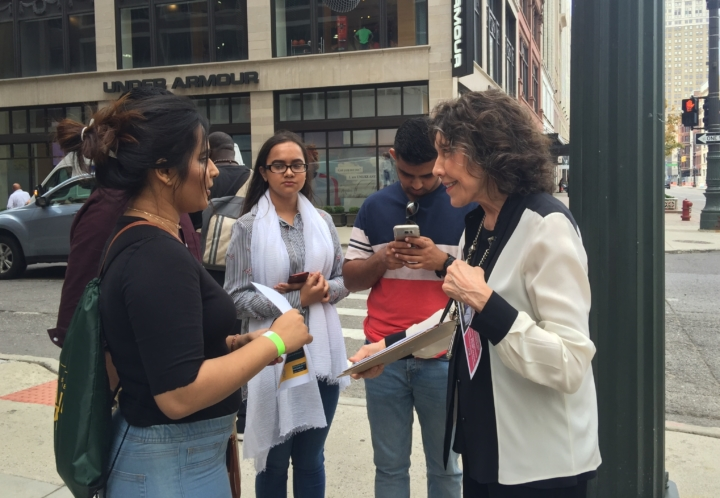 """Abby Ginzberg's """"Waging Change"""" documentary features Lily Tomlin canvassing in Michigan for restaurant workers."""