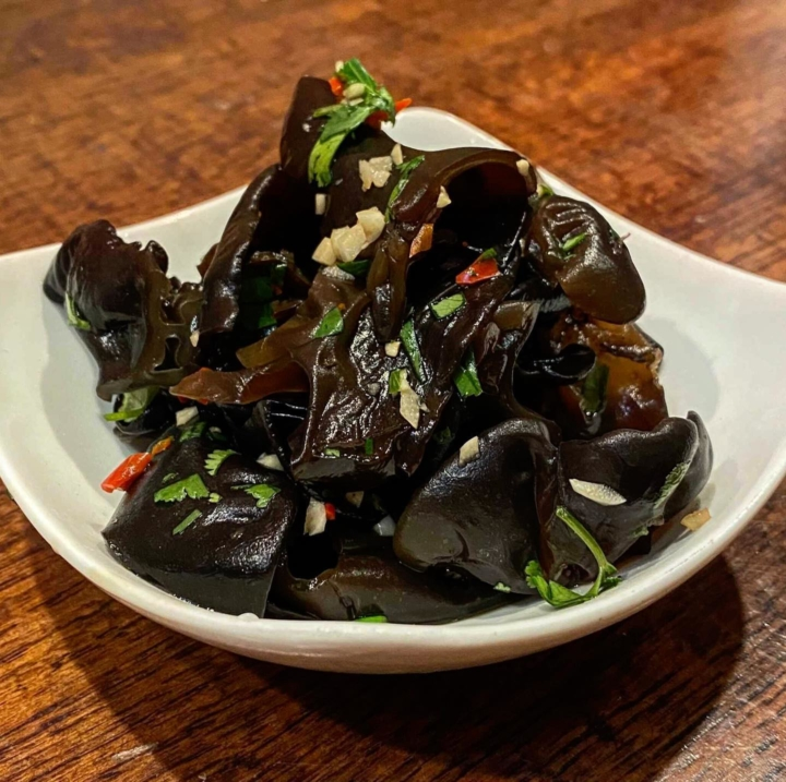 Yilan Foods offers two side dishes, including these marinated wood ear mushrooms. Photo: Yilan Foods