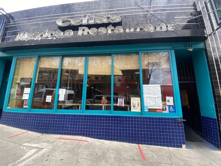 Despite what the sign says outside, Celia's is now El Talpense Mexican Restaurant. Photo: Sarah Han