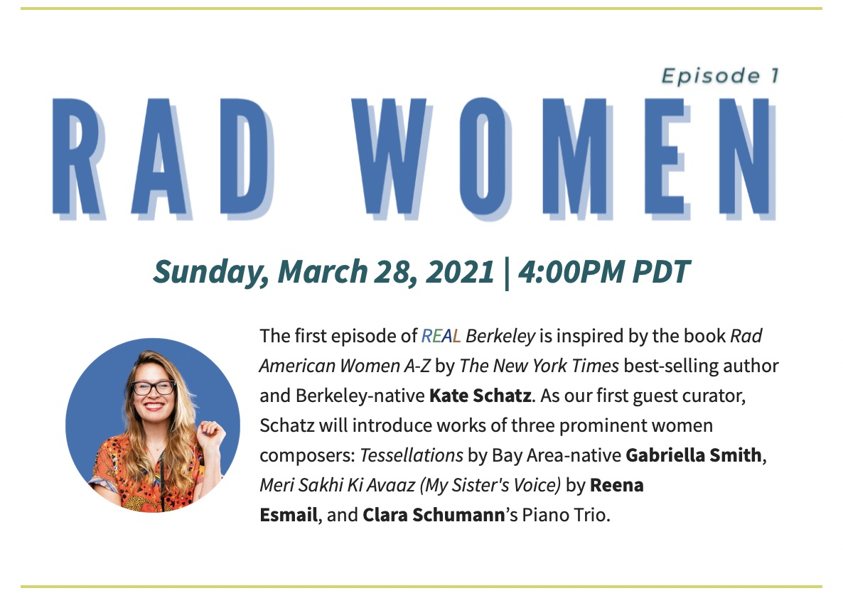 Poster for Rad Women podcast REAL Berkeley