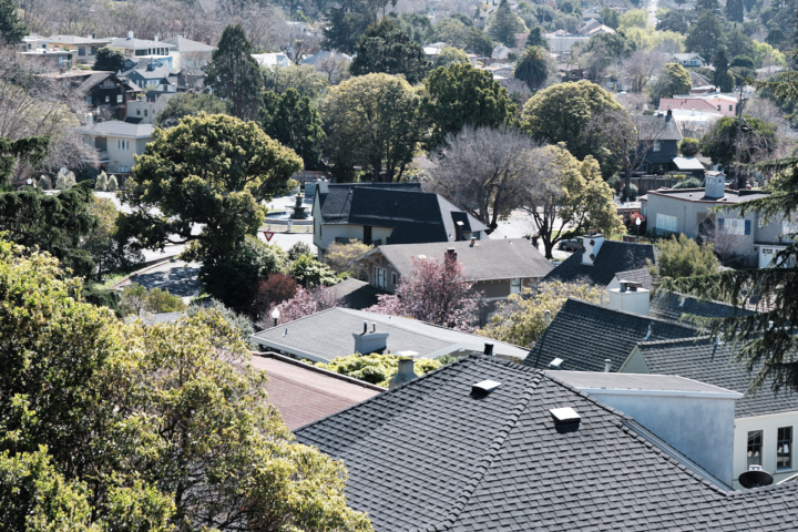 Houses and rooftops in Berkeley