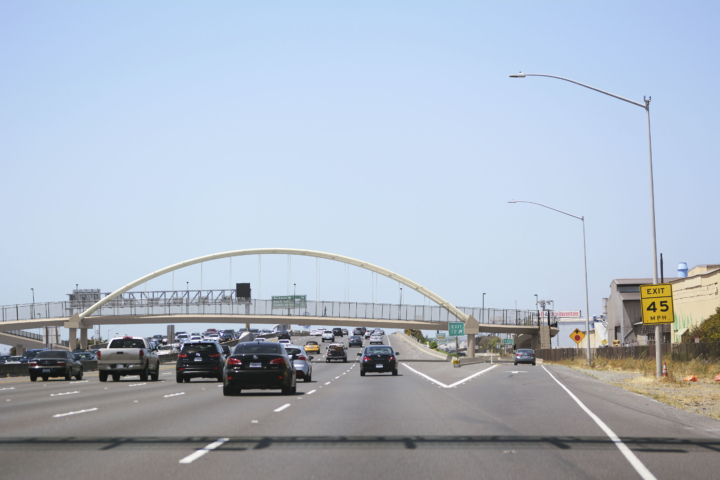 A rendering of the proposed pedestrian/bike bridge by the Gilman Stree/I-80 interchange.