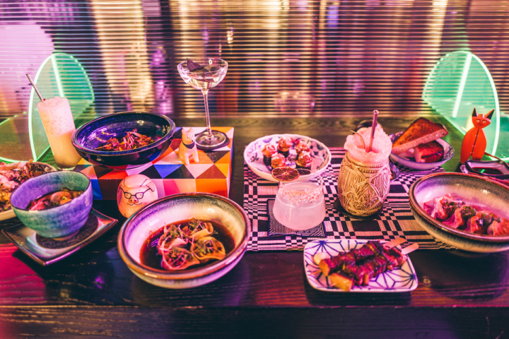 Spread of dishes and drinks from Viridian. Photo: Viridian