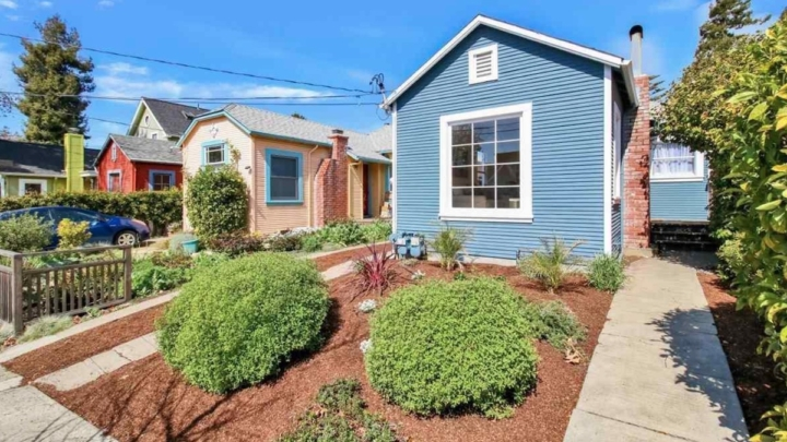 A small blue house in Berkeley