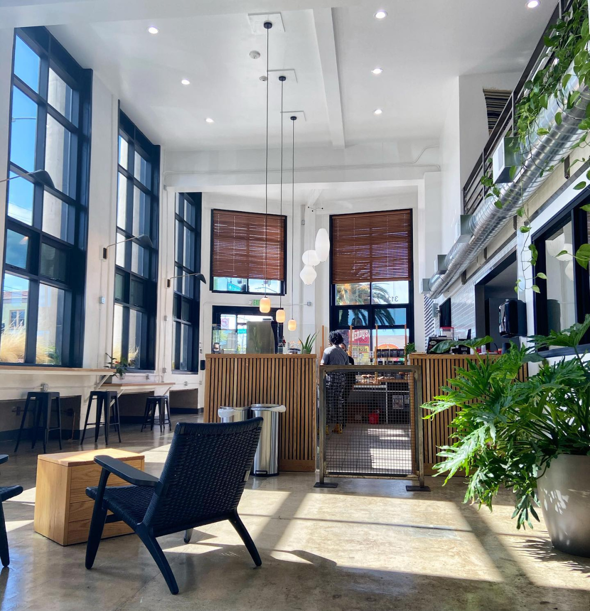 Red Bay's new Fruitvale cafe covers most of the first floor of an 11,000-square-foot former bank building.