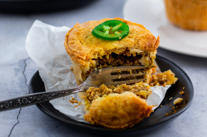 East Bay Pie Co's Jamaican-inspired curried beef pie. Credit: East Bay Pie Co.