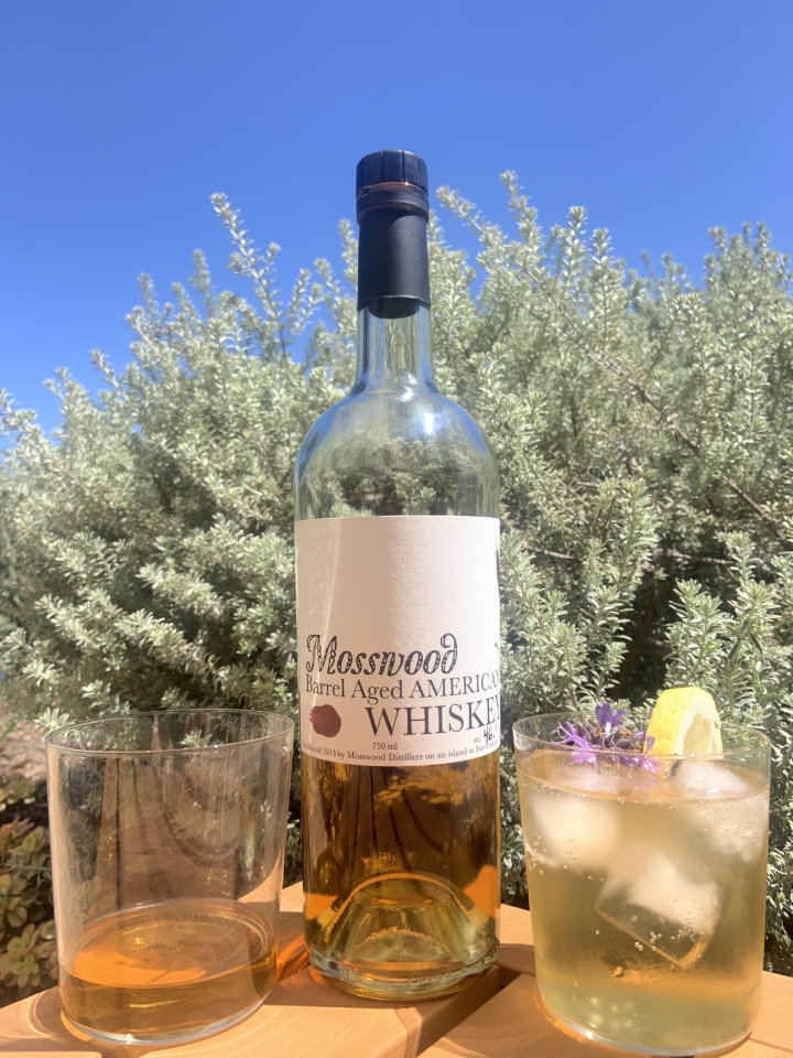 Mosswood's Apple Brandy Barrel-aged Whiskey. Credit: Therese Agnew