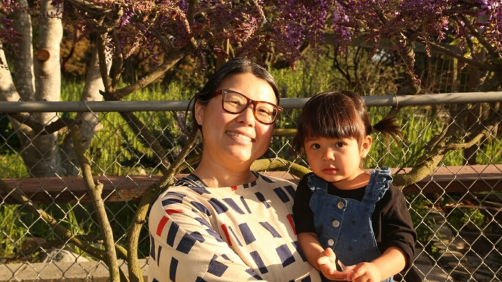 Umami Mart co-founder Kayoko Akabori with daughter Mion. Credit: courtesy of Kayoko Akabori